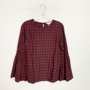 BeachLunchLounge | gingham bell sleeve top small
